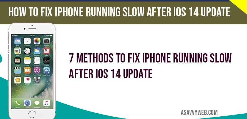 fix iPhone running Slow After iOS 14 Update-min