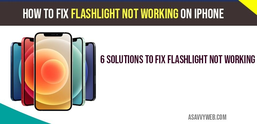 Flashlight not working on iphone