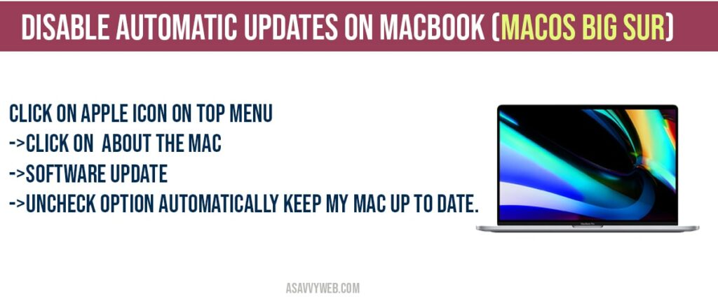 How to disable Disable automatic updates on macbook