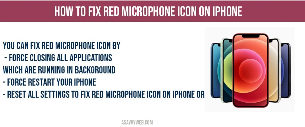 how to fix fix red microphone icon on iphone
