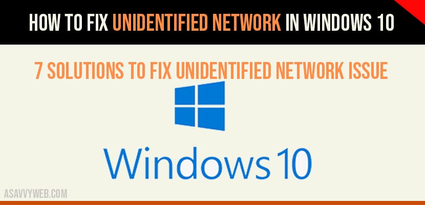 unidentified network no internet access
