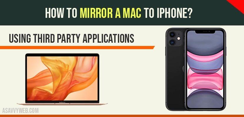 Mirror Mac to iphone