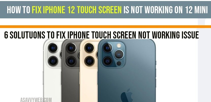 iphone 12 touch screen not working