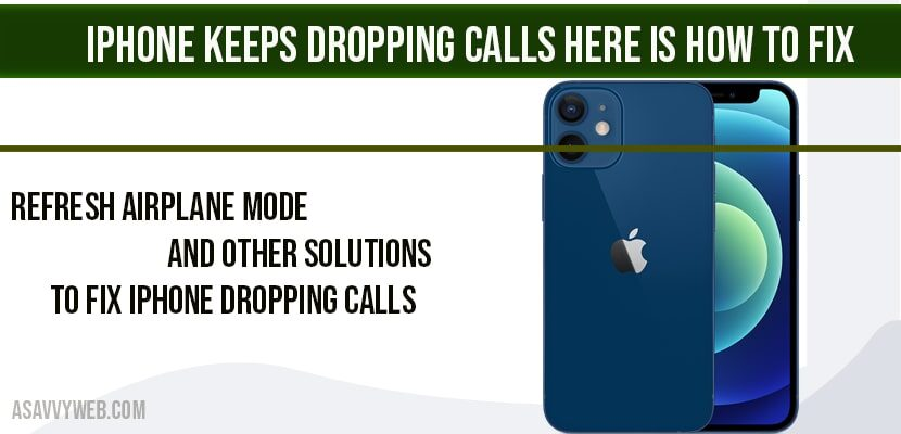 Iphone dropping calls