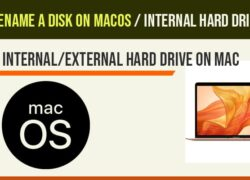 Rename a disk on macos