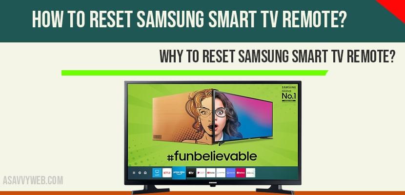Reset Samsung Smart tv Remote