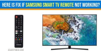 Samsung Smart tv Remote not Working
