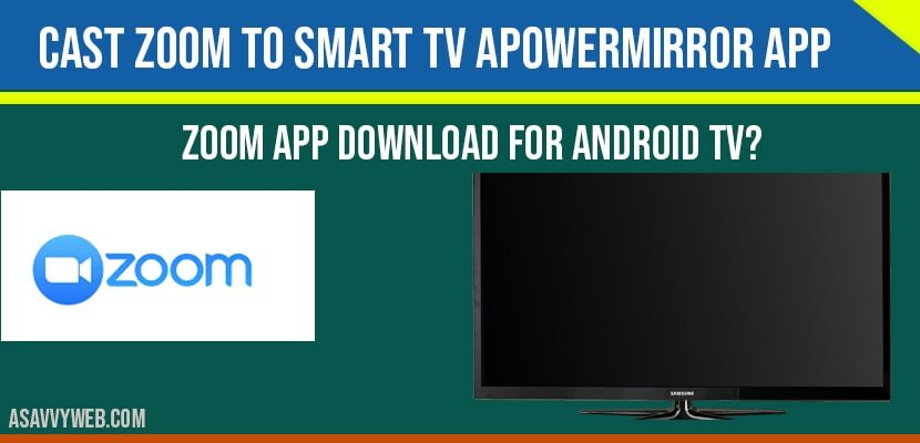Cast Zoom to Smart tv