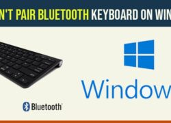 cant pair bluetooth keyboard on windows 10