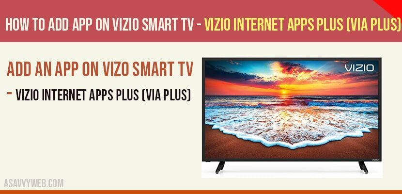 add app on vizio smart tv
