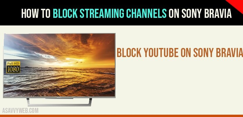 Block streaming channels on sony bravia
