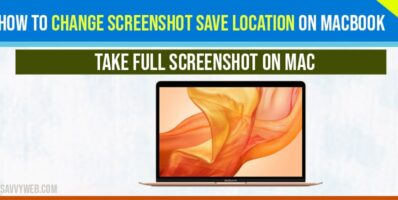 change screenshot save location on macbook