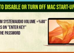 how to disable or turn off mac startup sound