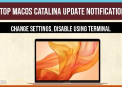 Stop macOS Catalina Update Notification