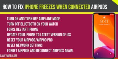 iPhone freezes when connected Airpods