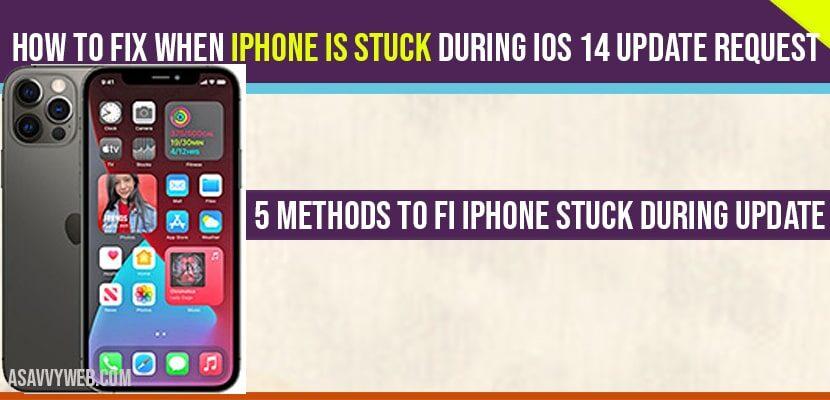 iPhone stuck during ios 14 update