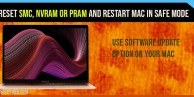 Reset-SMC-NVRAM-or-PRAM and restart your mac in safe mode