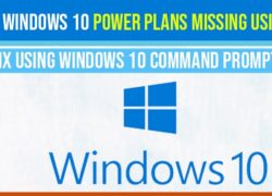 Restore windows 10 power plan missing using CMD