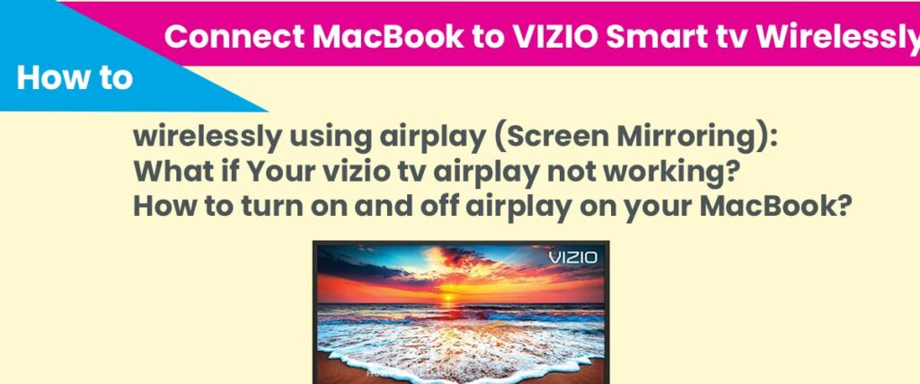 Connect macbook to vizio smart tv