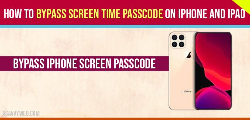how-to-bypass-screen-time-passcode-on-iphone-and-iPad