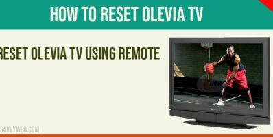 How to reset olevia tv