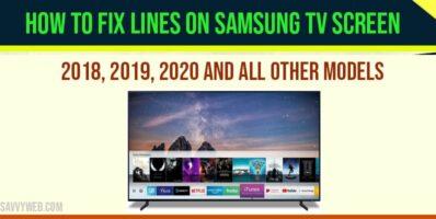 lines on samsung smart tv