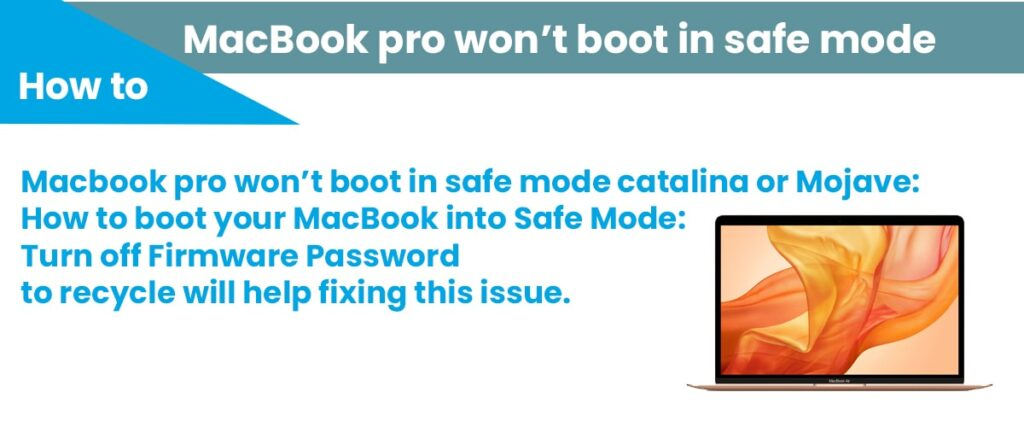 Macbook pro wont boot in safe mode