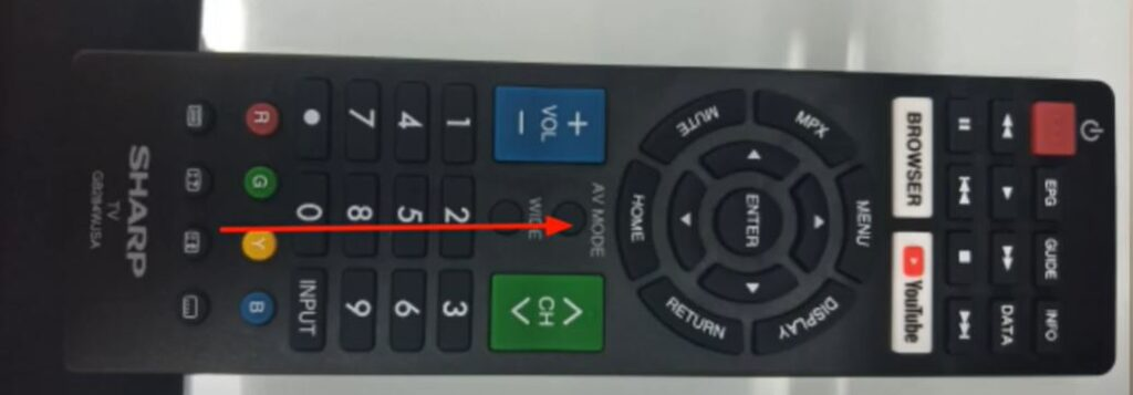 Press home button on your sharp tv remote control device