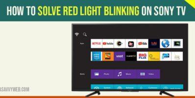 red blinking light on sony smart tv
