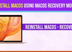 Reinstall macos from recovery mode