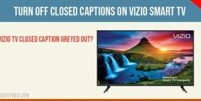 turn of closed captions of Vizio Smart tv