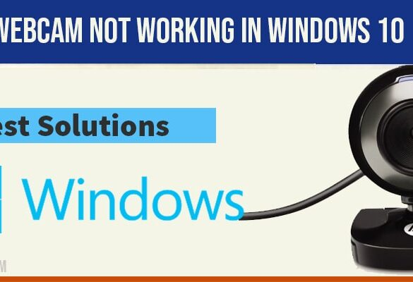 Webcam not working in windows 10