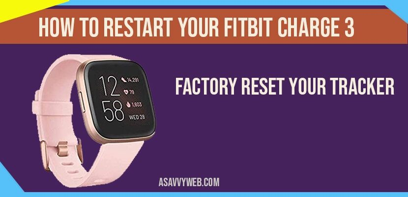 How to Restart your Fitbit Charge