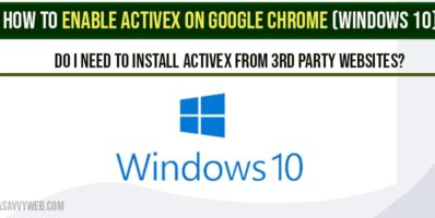 Enable ActiveX On Google Chrome
