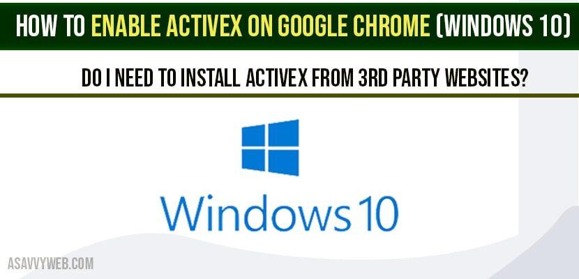 Enable ActiveX On Google Chrome