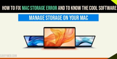 Mac Storage Error