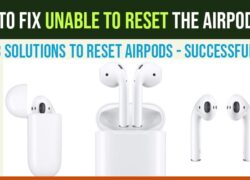 Unable to Reset the Airpods
