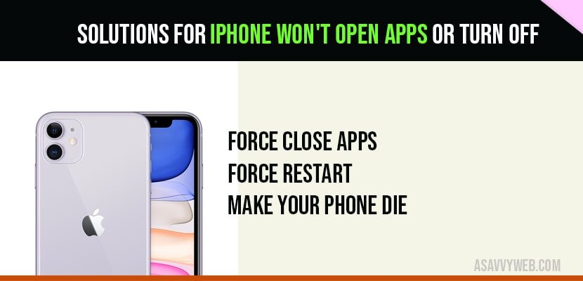 iPhone won't open apps or turn off-min