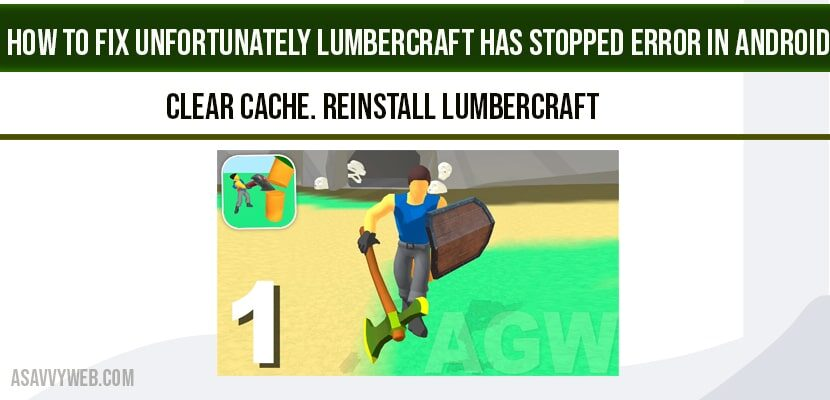 Unfortunately Lumbercraft has Stopped Error
