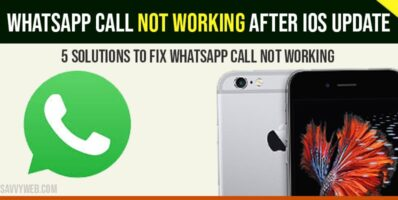 Whatsapp call not working after ios update