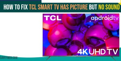 TCL Smart tv has picture but no sound
