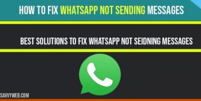 whatsapp not sending messages