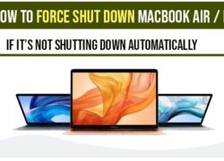 How to force shutdown macbook