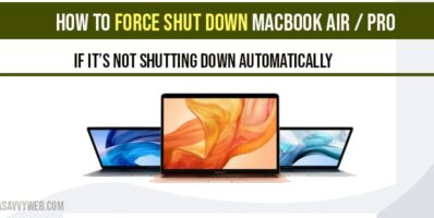 How to force shutdown macbook
