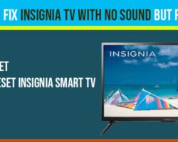 Insignia TV with No Sound but Picture