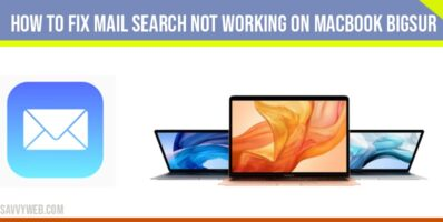 Mail Search Not Working on Macbook