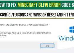 fix minecraft glfw error code - opengl driver error