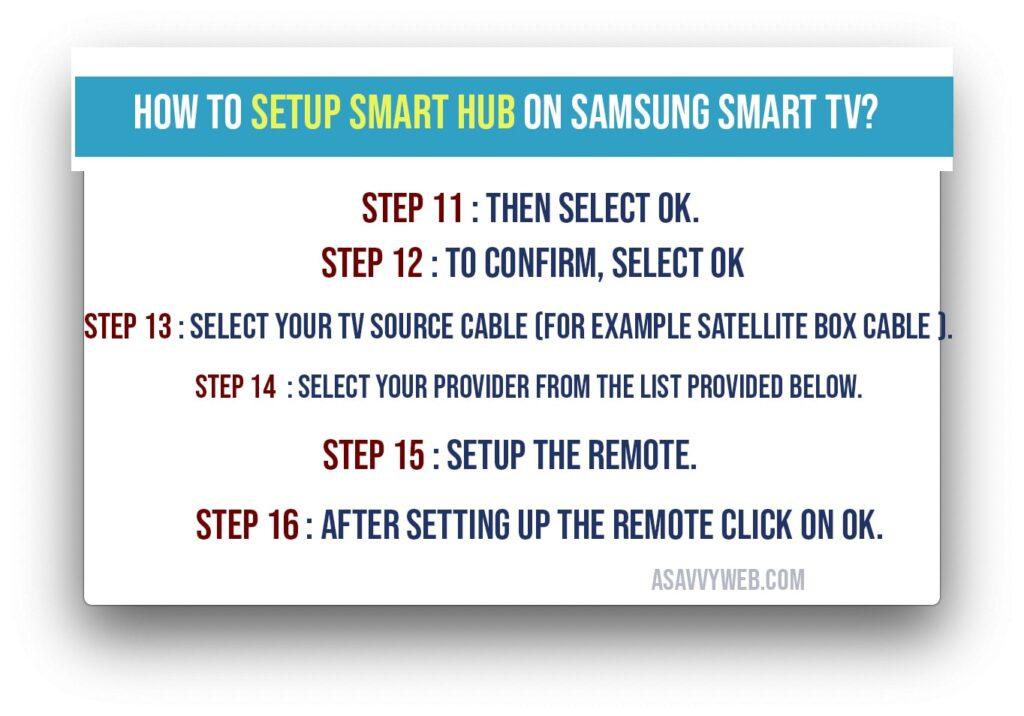 how to set up smart hub on Samsung smart TV