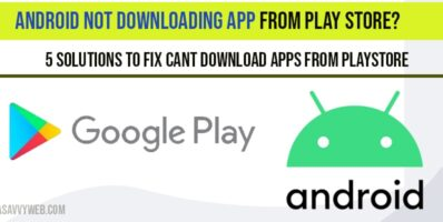 Android Not Downloading app From Play Store