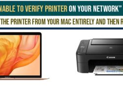 Unable to Verify Printer on Your Network